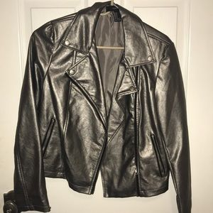 Silver Forever21 Leather Jacket